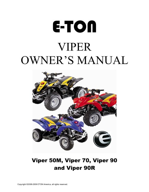 small resolution of e ton 50 viper atv owners maintenance instruction pages 1 36