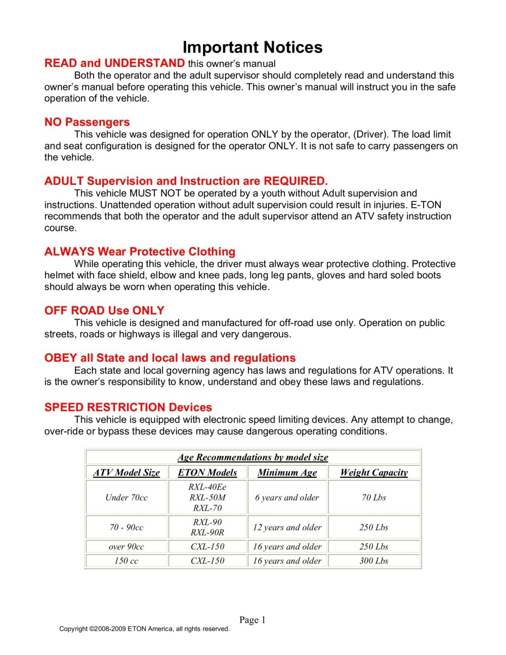 medium resolution of viper mini 50 wiring diagram wiring librarye ton 50 viper atv owners maintenance instruction pages 1