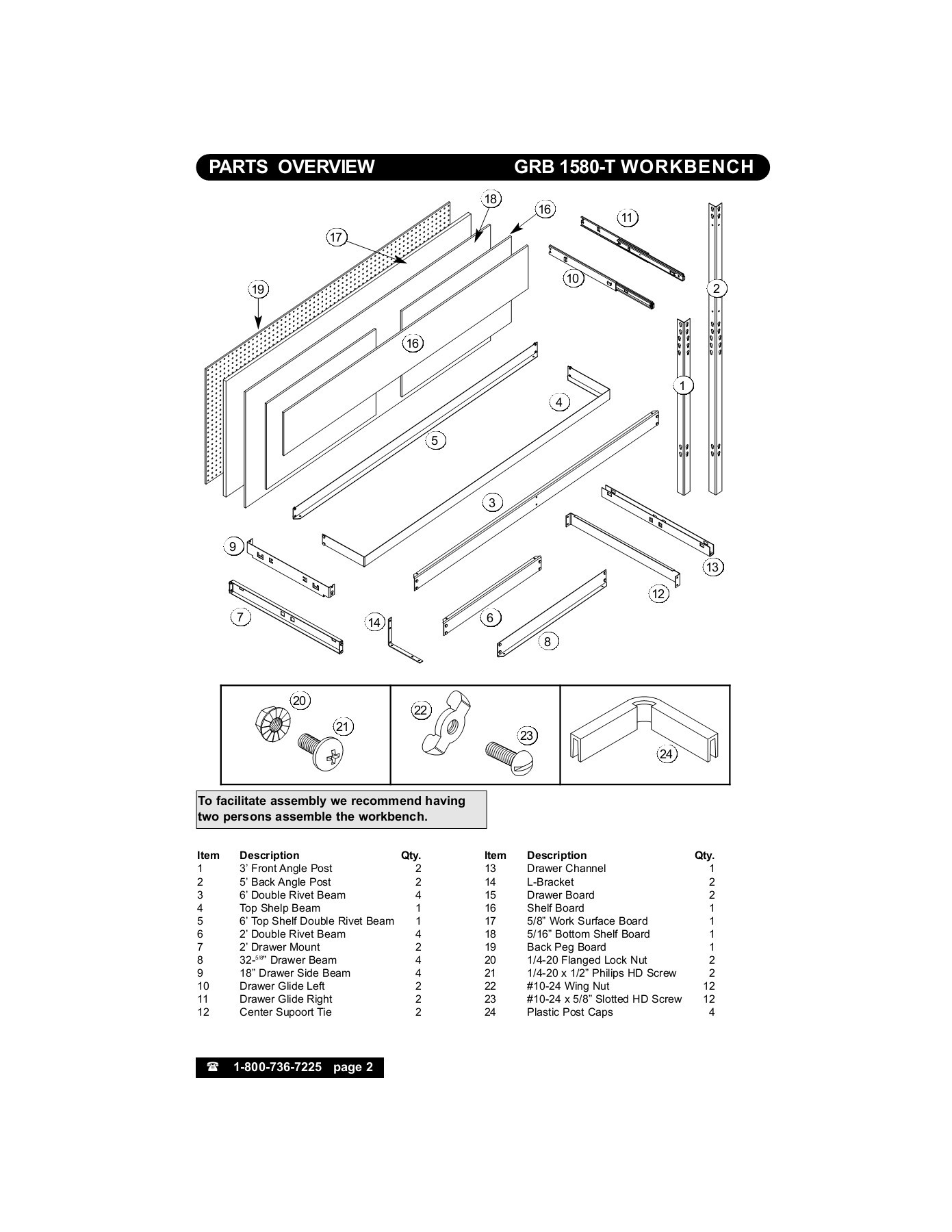 assembly instructions workbench pages 1