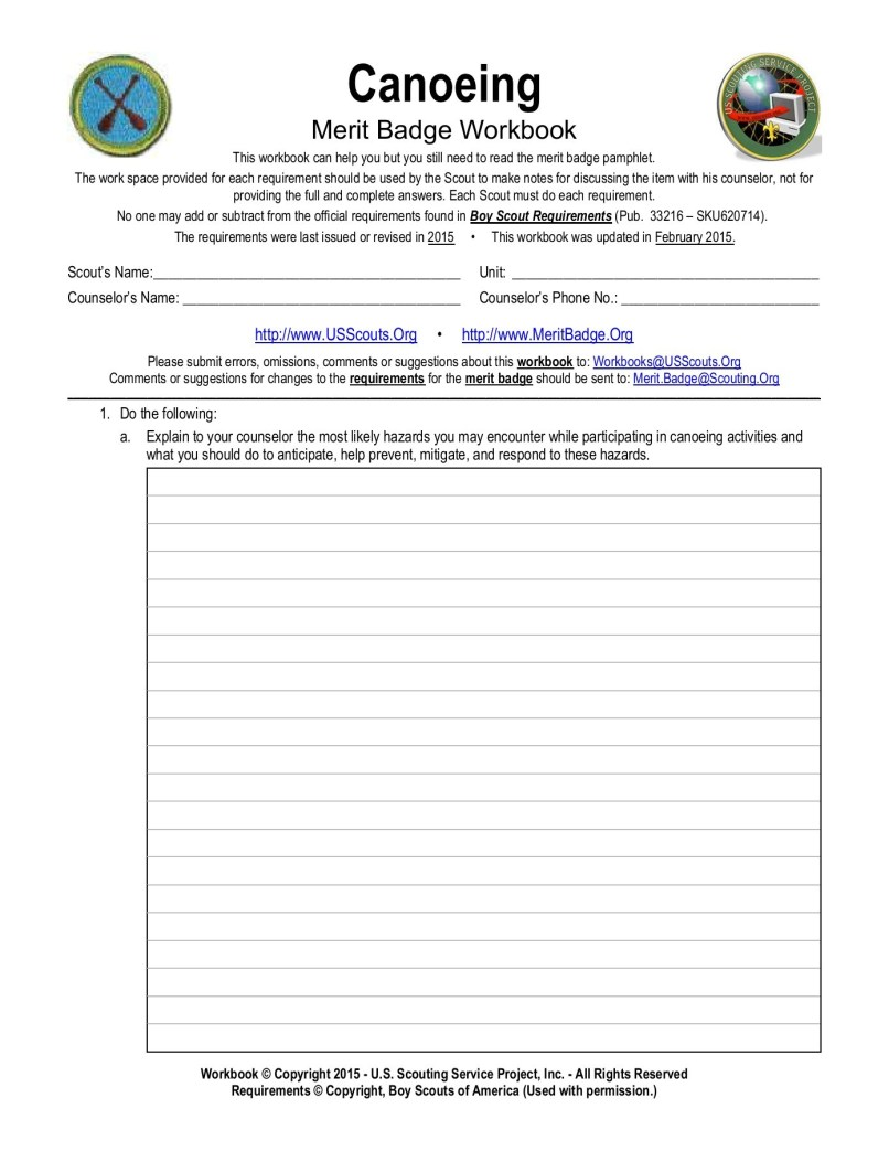 Motorboating Merit Badge Worksheet | motorcyclepict co