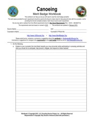 Canoeing Merit Badge Requirements : canoeing, merit, badge, requirements, Canoeing, Merit, Badge, Worksheet, Answers, Promotiontablecovers