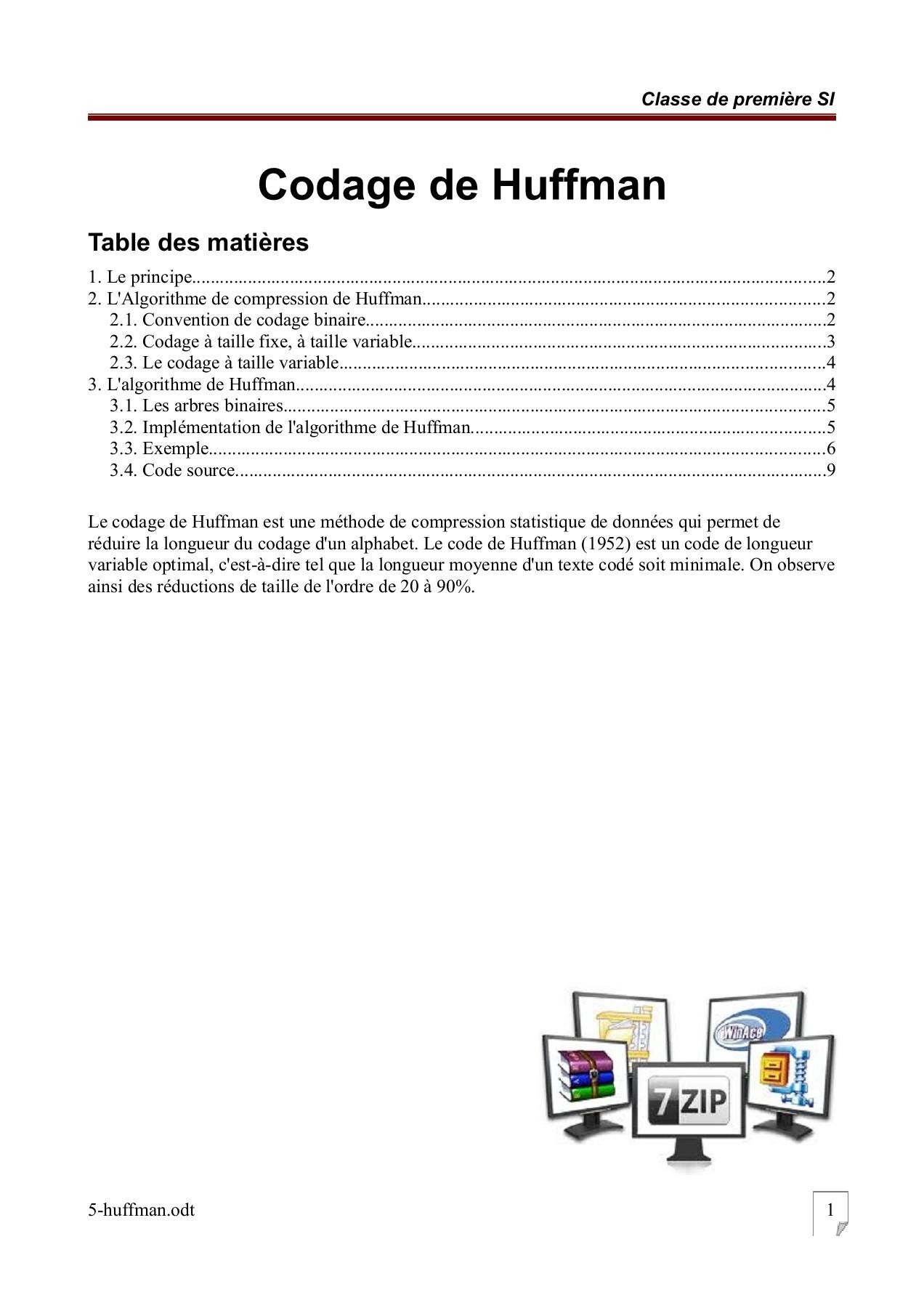 Taux De Compression Par Rapport à Un Code Ascii : compression, rapport, ascii, 5-huffman, Pages, Download, FlipHTML5