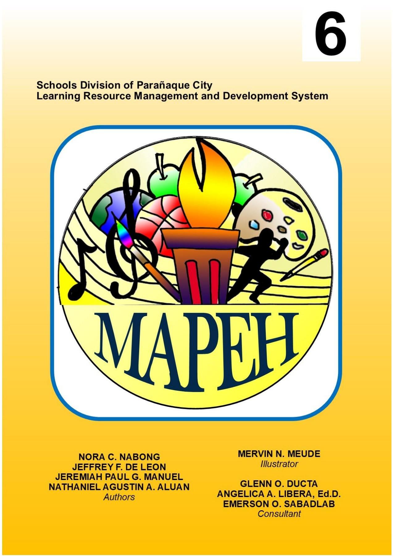 MAPEH-6-WORKSHEETS [ 1800 x 1273 Pixel ]