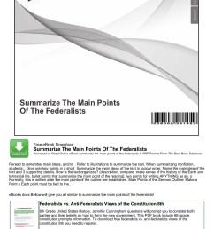 Summarize The Main Points Of The Federalists - nocRead.Com Pages 1 - 4 -  Flip PDF Download   FlipHTML5 [ 1800 x 1273 Pixel ]