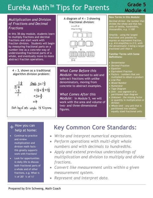 small resolution of eureka math grade 5 module 4 parent tip sheet