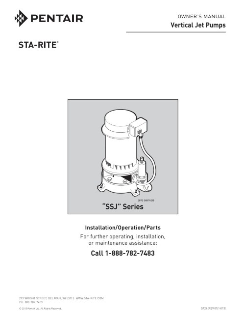 small resolution of owner s manual vertical jet pumps sta rite