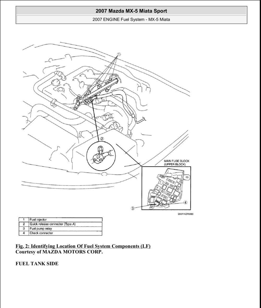 medium resolution of 2007 mazda miata engine diagram