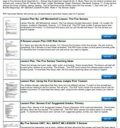 Preschool Lesson Plan For 5 Senses Pages 1 - 4 - Flip PDF Download    FlipHTML5 [ 1800 x 1273 Pixel ]