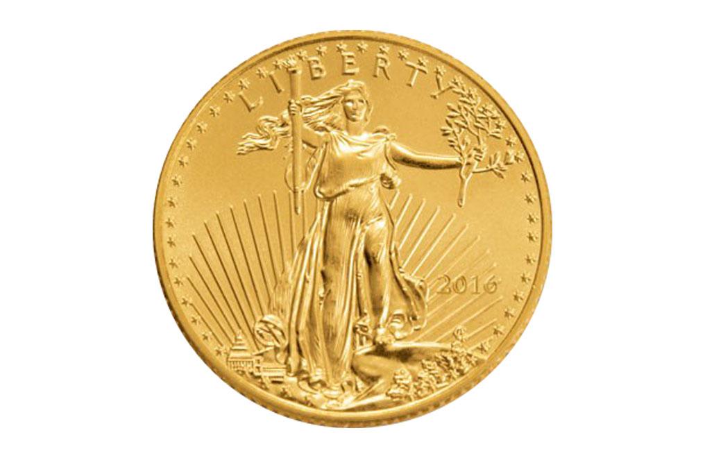 購買 1/10盎司美國鷹揚金幣.9167