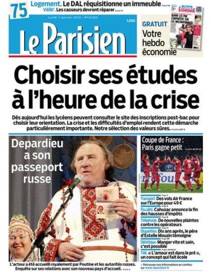 Le Parisien du lundi 07 janvier 2013