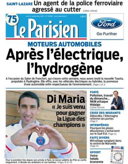 Le Parisien + journal de Paris du lundi 14 septembre 2015