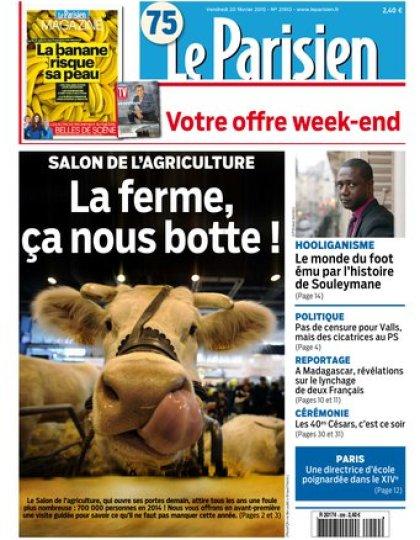 Le Parisien + Journal de Paris & Magazine du vendredi 20 févier 2015