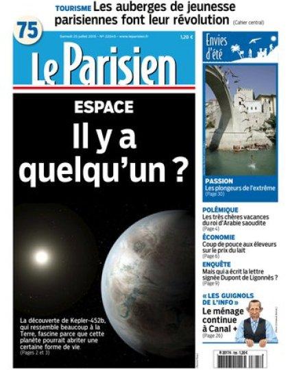 Le Parisien + Journal de Paris du samedi 25 juillet 2015