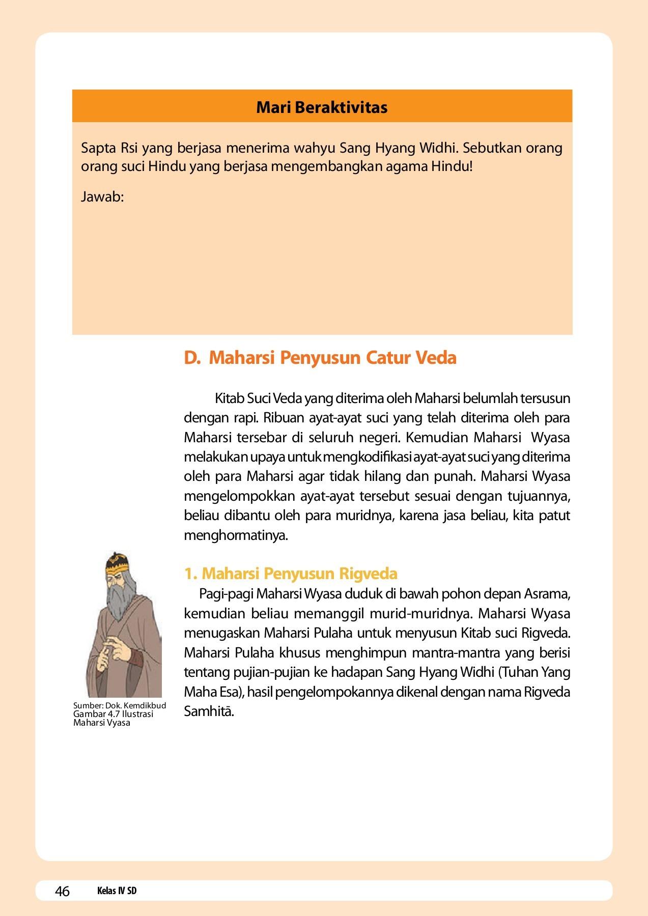 Bagian Catur Weda Samhita : bagian, catur, samhita, Kelas_04_SD_Pendidikan_Agama_Hindu_dan_Budi_Pekerti_Siswa, Pages, 51-96, PubHTML5