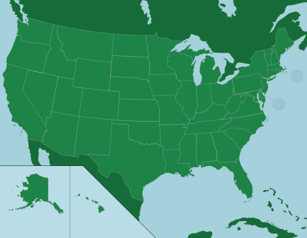 The US 50 States Map Quiz Game