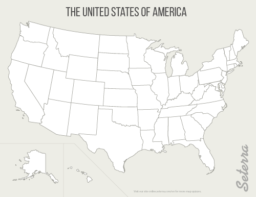 The US 50 States Printables Map Quiz Game