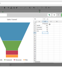 input your data and your changes will be shown instantly on the funnel chart next to the table  [ 1280 x 720 Pixel ]