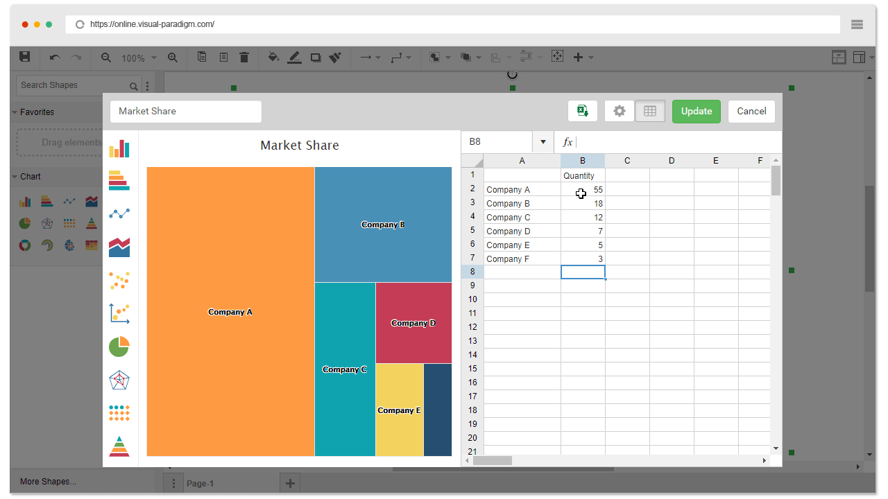 hight resolution of start building your tree map from a template a table will pop up with some default values just replace them with your data set and preview the changes
