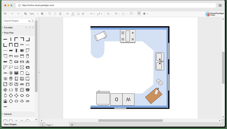 kitchen visualization tool utensil sets 免费厨房平面图模板 厨房平面图模板 小厨房平面图 使用在线平面图软件绘制