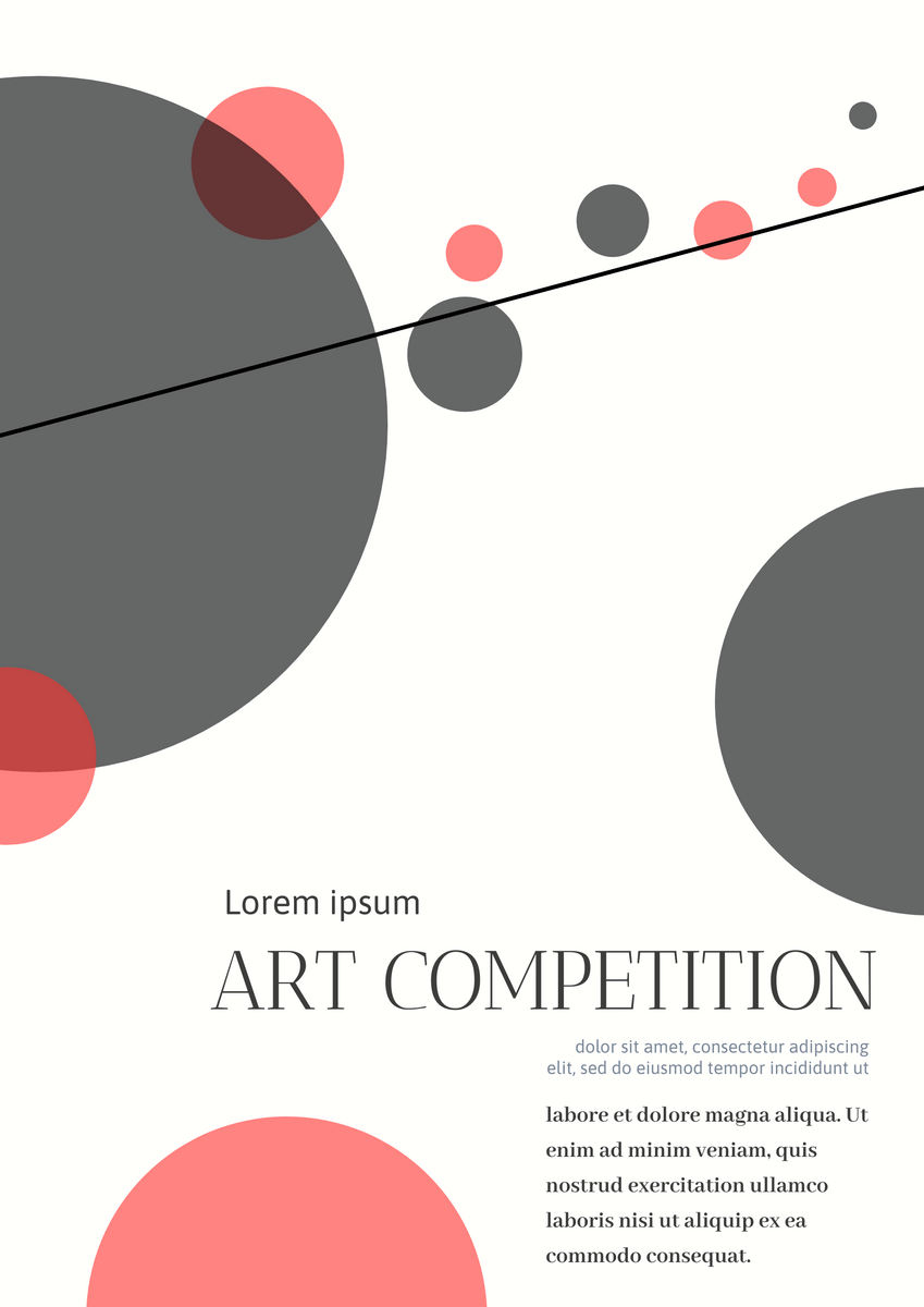 art competition poster poster template