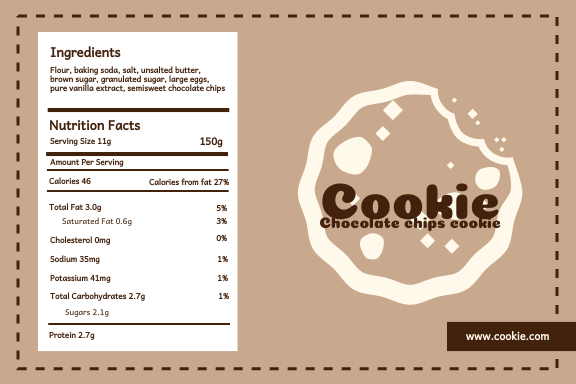 These free printable label templates include blank labels,. Chocolate Chips Cookie Label Label Template