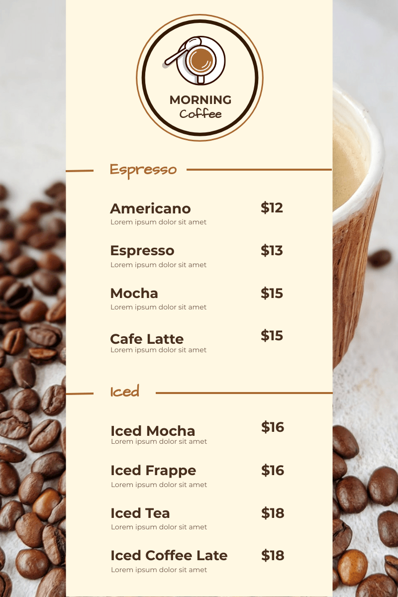 These 10 coffee houses really hit the spot. Brown Coffee Photo Coffee Shop Menu Menu Template