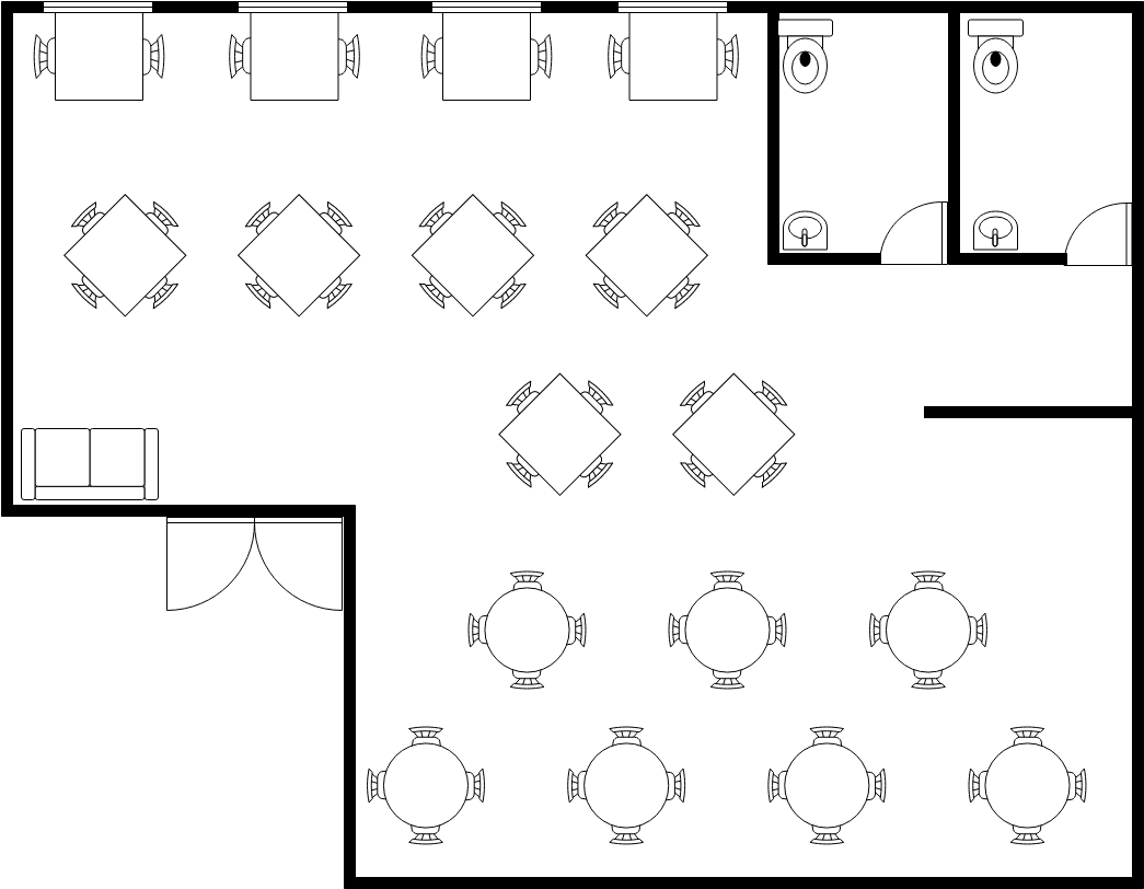 Small Restaurant Seating Plan Seating Chart Example