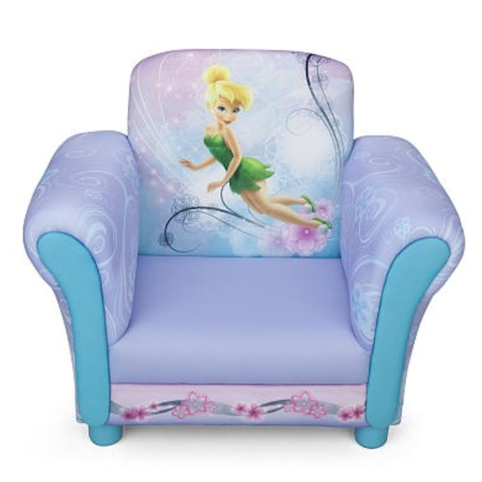Upholstered Toddler Chair New Delta Children Disney Fairies Pink Upholstered Chair
