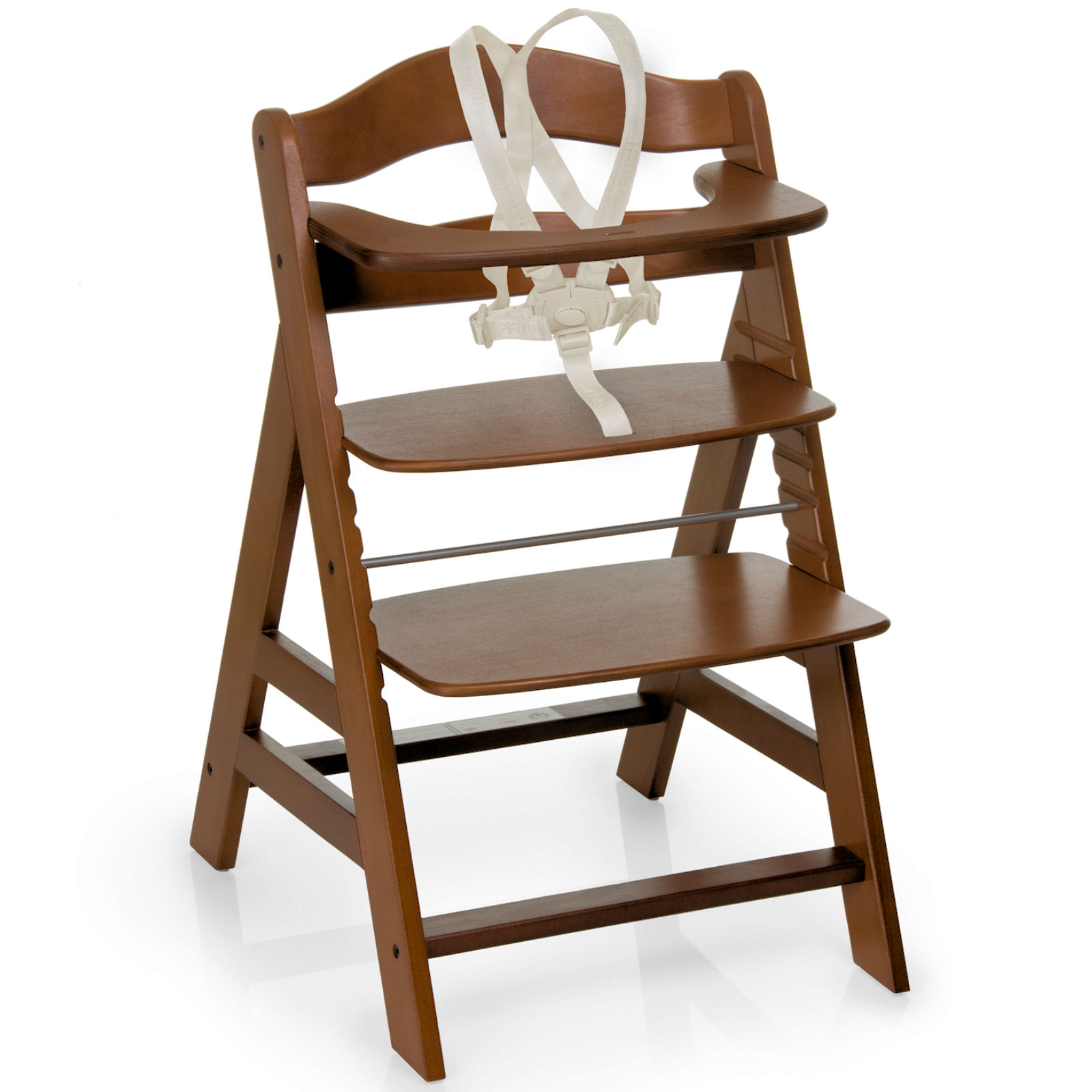 Hauck High Chair Hauck Alpha B Grow With Your Child Wooden Highchair Walnut