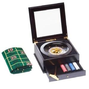 EDE808003-Ξύλινο σετ ρουλέτας από μαόνι 30cm
