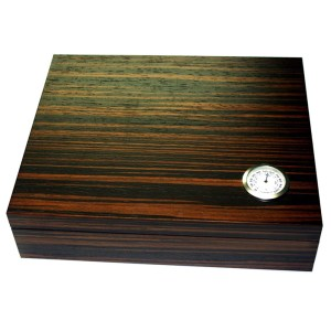 EDK951023-Υγραντήρας ξύλινος 15 πούρων με επένδυση έβενου | Online 4u Shop