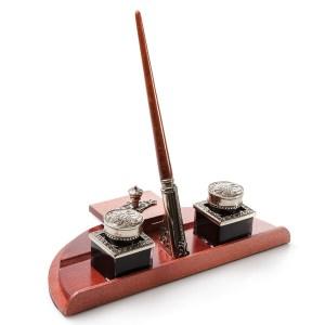 EDA751074-Σετ γραφής με ξύλινη βάση στυλ αντίκα Bortoletti set90 | Online 4U Shop