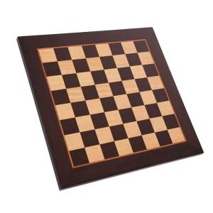 EDE900043-Ξύλινη σκακιέρα μαρκετερί Wenge Μανόπουλος WB50V | Online 4U Shop
