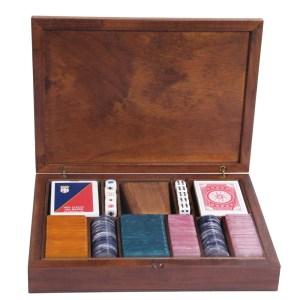 EDE905006-Ξύλινη κασετίνα καρυδιάs με 180 μάρκες Radica 307405   Online 4U Shop