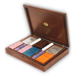 EDE905006-Ξύλινη κασετίνα καρυδιάs με 180 μάρκες Radica 307405 | Online 4U Shop