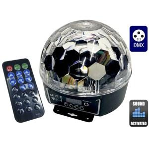 EDG3000084-Disco Μπάλα RGB με Χειριστήριο GloboStar 47723 | Online 4U Shop