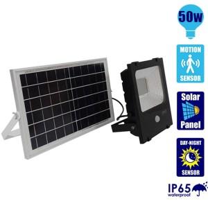 HGH309019-Ηλιακός Προβολέας LED 50W με Αισθητήρα Ψυχρό Λευκό GloboStar 12103 | Online 4UShop