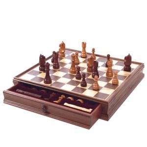 EDE854034-Σκάκι, Ντάμα Καρυδιάς Deluxe Dal Negro 804536 | Online 4U Shop