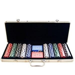 EDE905017-Μεταλλική βαλίτσα 500 Μάρκες Πόκερ & 2 Τράπουλες | Online 4U Shop