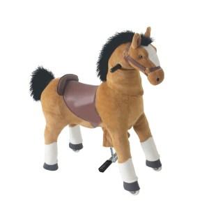 EDE207018-Παιδικό καφέ αλογάκι ScorpionWheels μικρό-5042007 | Online 4U Shop