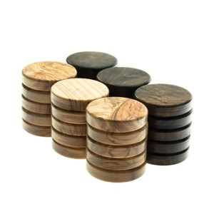 EDE098015-Πούλια τάβλι ξύλο Ελιάς καφέ 3,6cm PB1bro Manopoulos | Online 4U Shop
