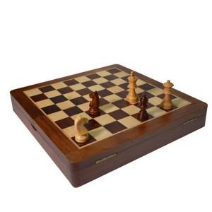 EDE098022-Ξύλινο μαγνητικό σκάκι με πιόνια 30cm SuperGifts 901020 | Online4u.shop