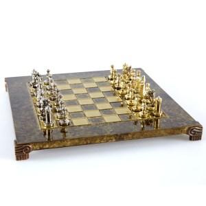 EDE854002-01 Χειροποίητο μεταλλικό σετ σκακιού της Βυζαντινής Αυτοκρατορίας