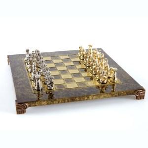 EDE854004-01 Χειροποίητο μεταλλικό σετ σκακιού με Ελληνικά αγάλματα τέχνης