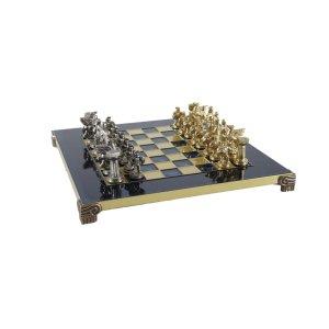 EDE854009 Χειροποίητο μεταλλικό σετ σκακιού με Σπαρτιάτη πολεμιστή