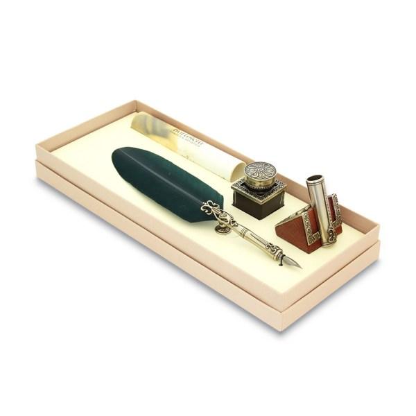 Πένα φτερό στυλ αντίκα με βάση SET82 Bortoletti   Online 4U