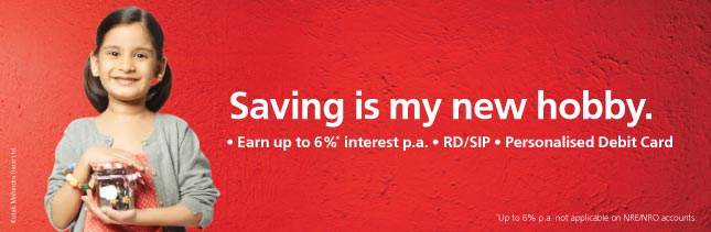 kotak junior savings account