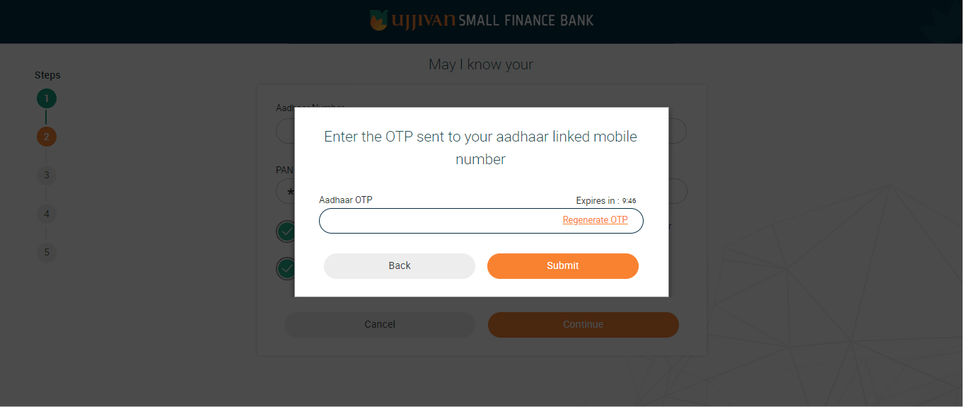 ujjivan small finance account