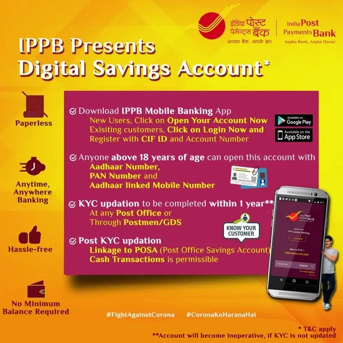 IPPB digital savings account