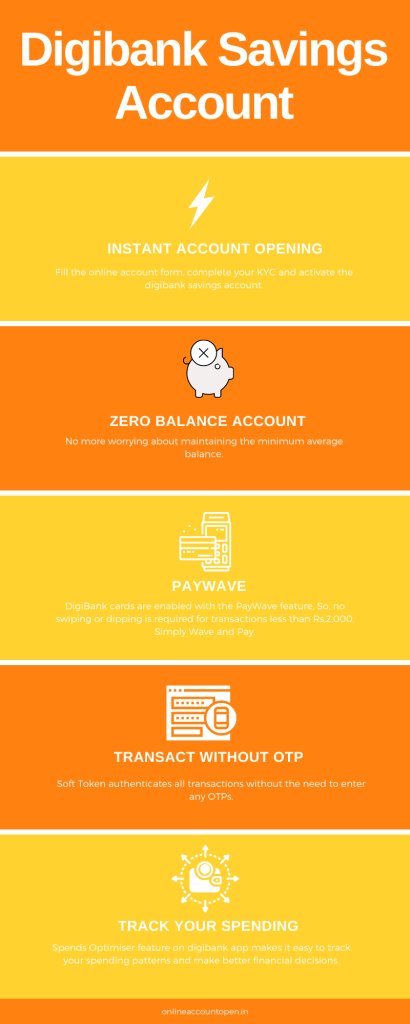 features of digibank savings account